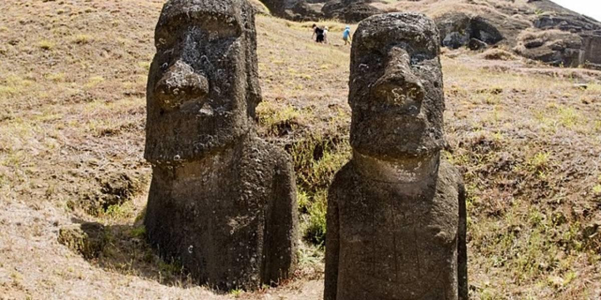 Arqueólogos descartan teoría del traslado de los moai en la Isla de Pascua