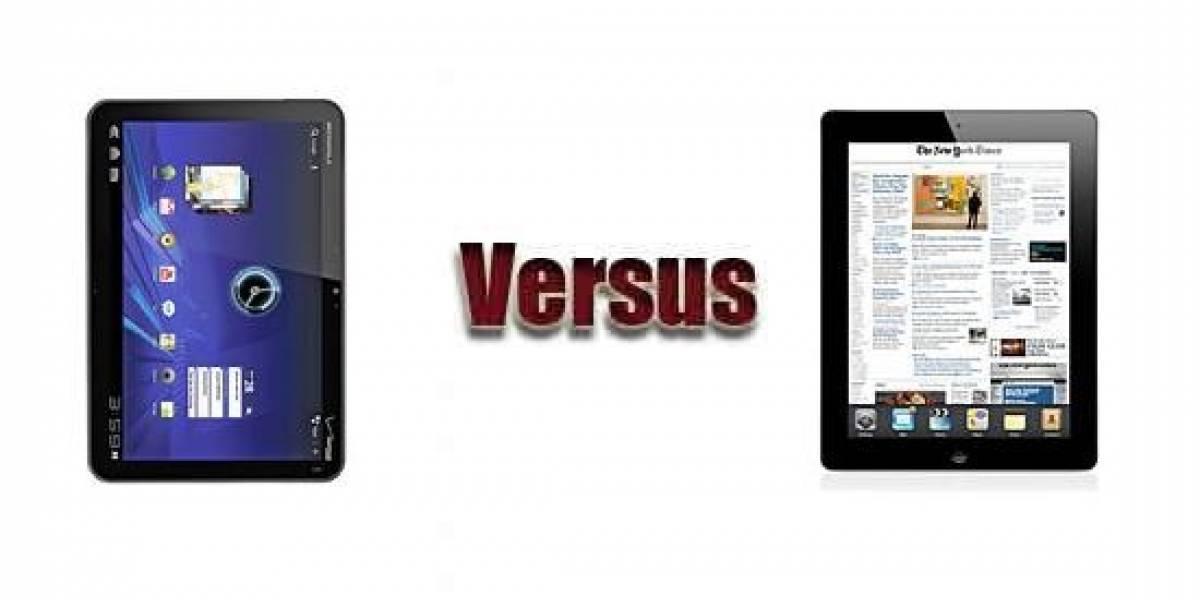 Apple demanda a Motorola en Europa por infracción de patentes de diseño en la Xoom