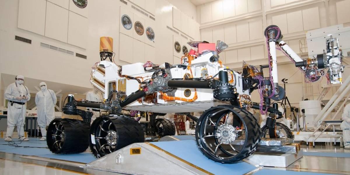 Realizan la primera prueba del sistema de despliegue tipo comando del rover Curiosity