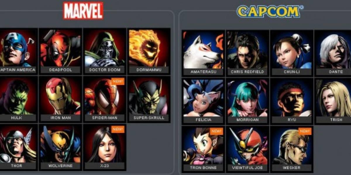 La alineación de Marvel VS Capcom 3 hasta ahora