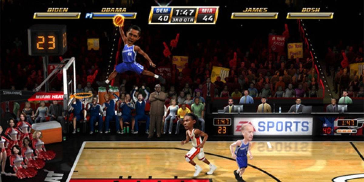Obama y políticos estadounidenses en NBA JAM