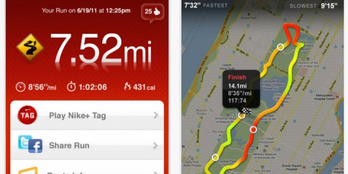 Nike+ GPS app 3.1.1 ya está disponible en la AppStore de Apple