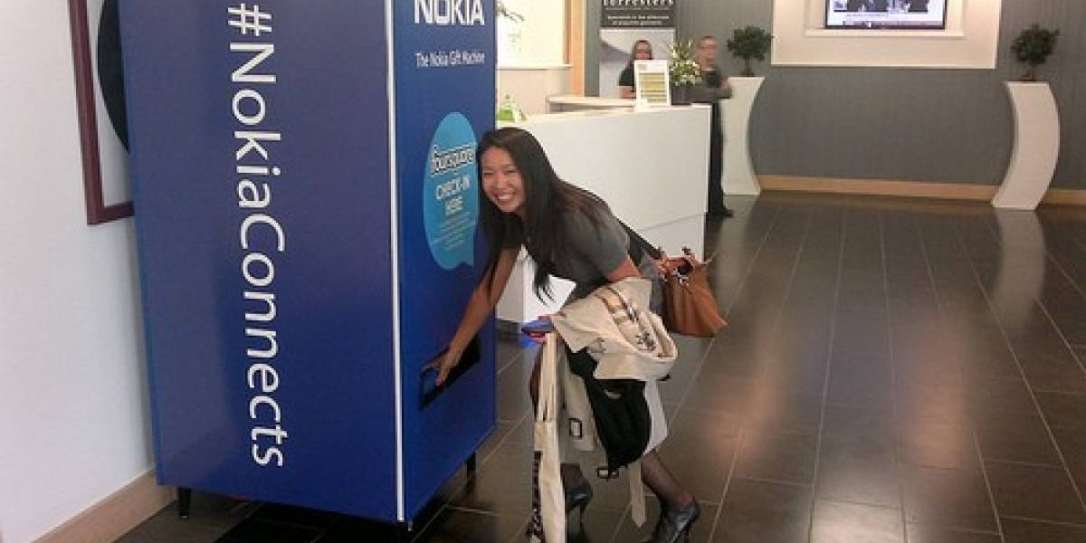Nokia Gift Machine, la máquina expendedora social de Nokia
