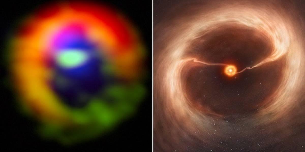 Descubren un planeta que se esta formando con polvo estelar