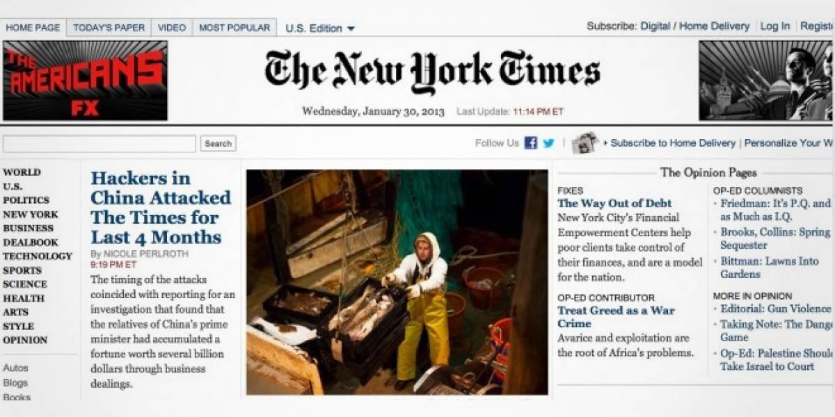El New York Times afirma que China hackeó el periódico durante los últimos 4 meses