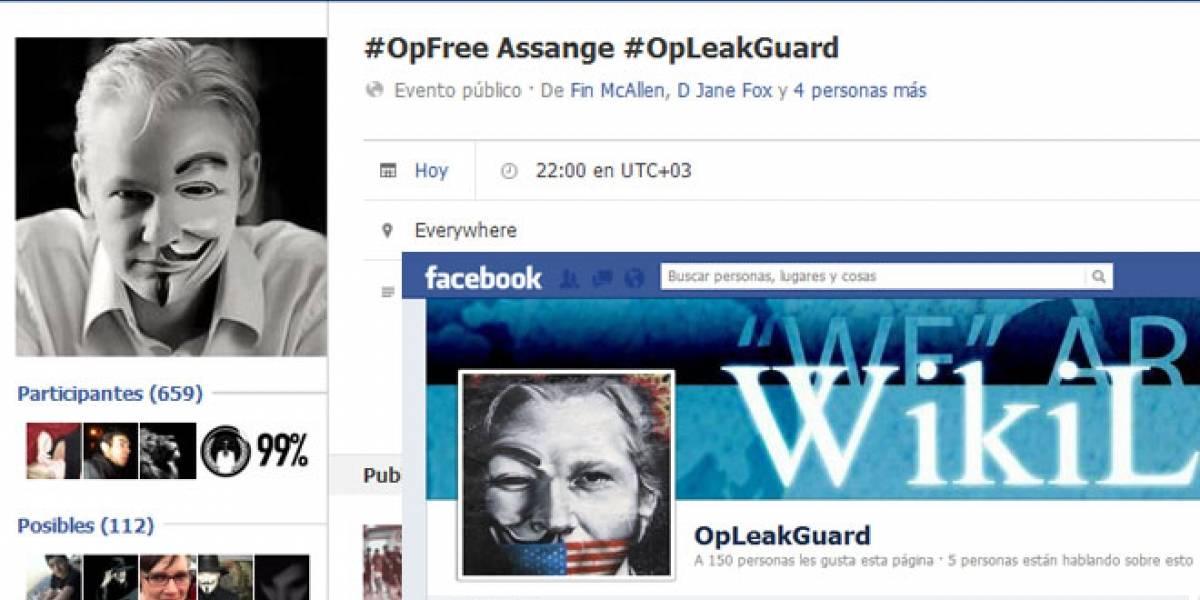 #OpFreeAssange: Anonymous ataca Webs de Gobierno británico en apoyo a Assange