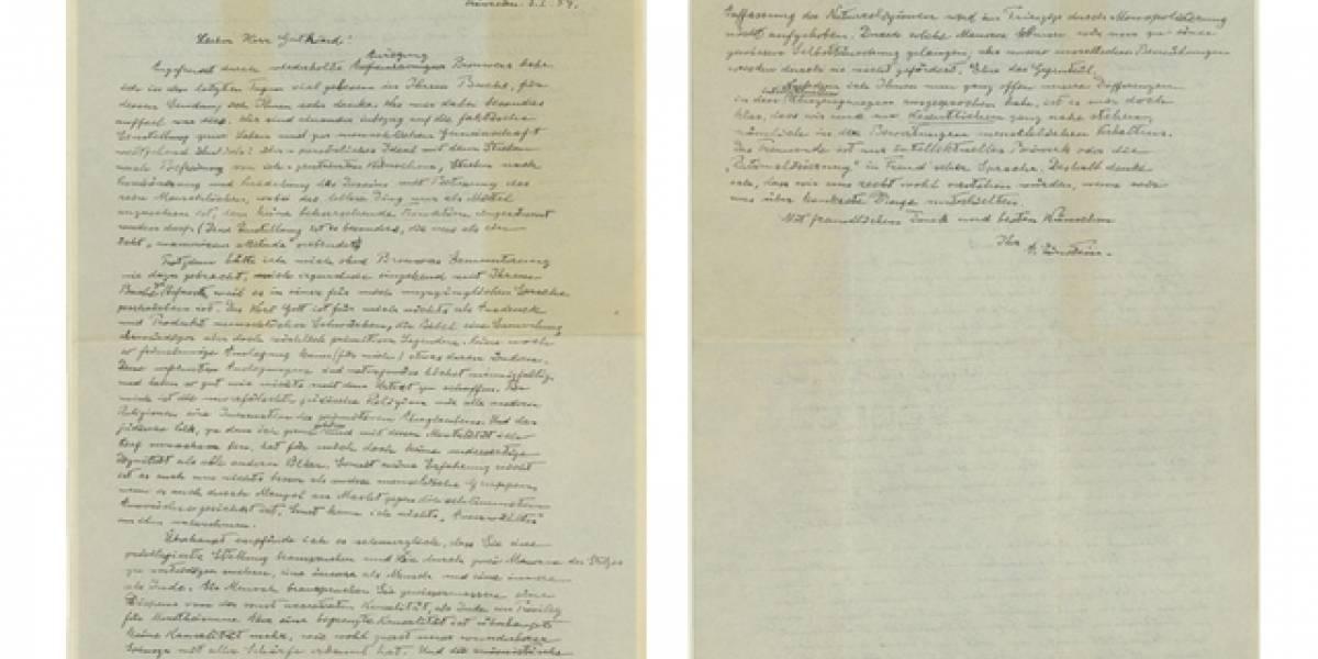 Compran la 'Carta de Dios' de Einstein por eBay en US$3.000.100