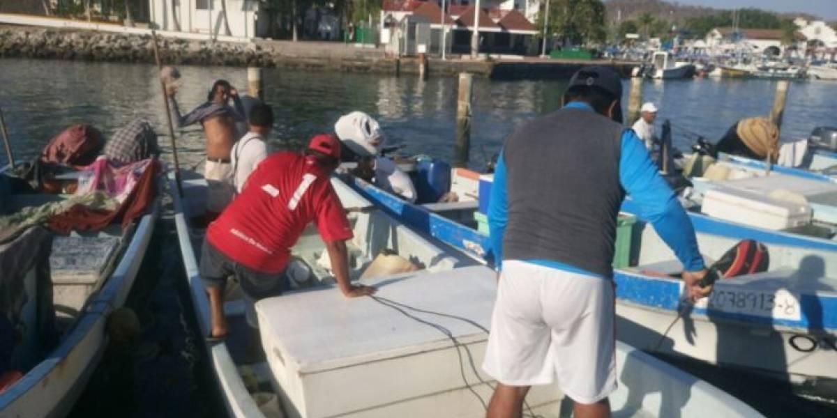 Se extravía lancha con tres pescadores en Oaxaca