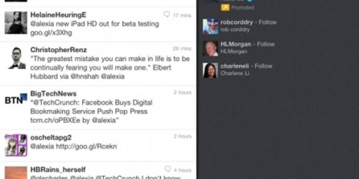 Twitter mejora su app para iPad con HTML5