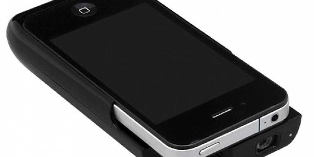Estuche, proyector y batería para iPhone en un solo accesorio