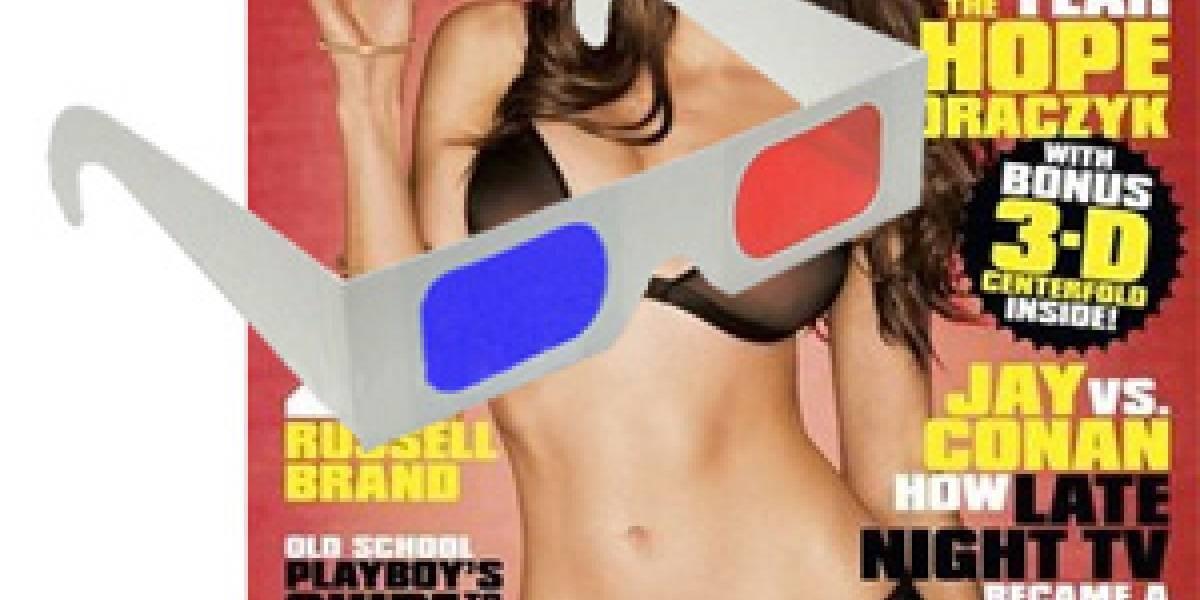 Playboy incluirá una playmate en 3D con la edición de junio