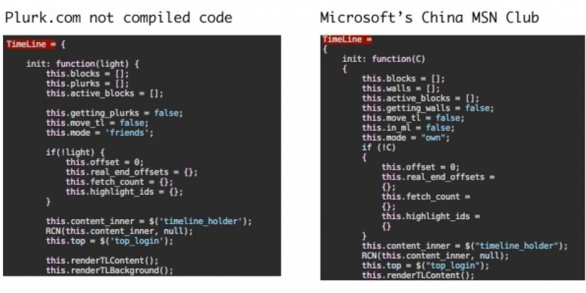 Microsoft China roba el código de Plurk