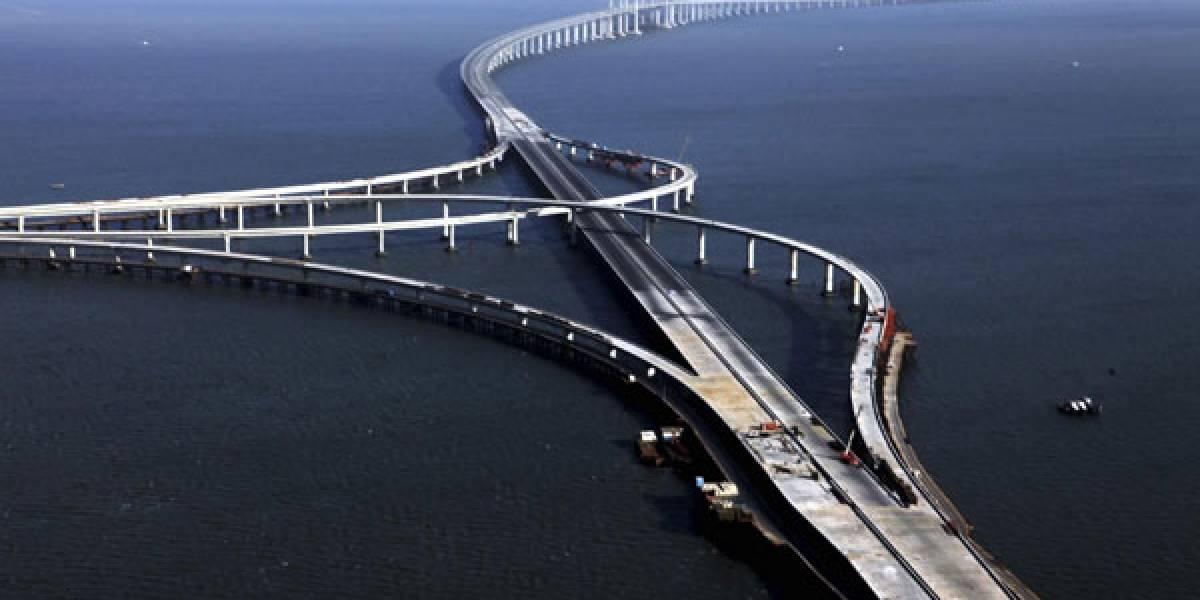 China construye el puente más largo del mundo