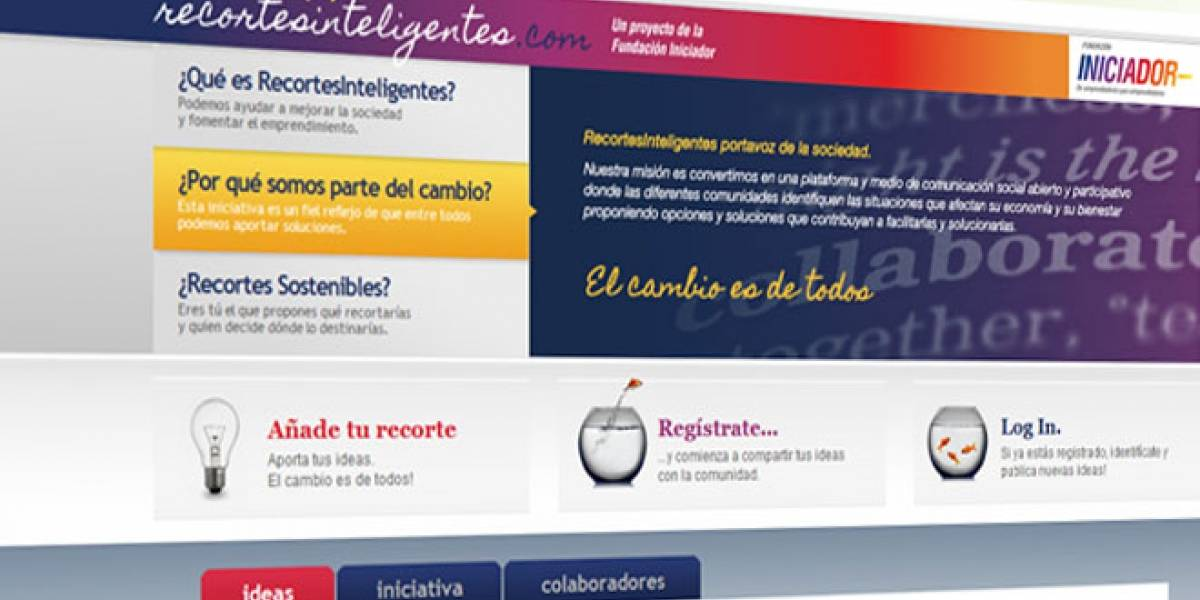 Recortes Inteligentes: Los españoles proponen en la Web dónde ahorrar para salir de la crisis