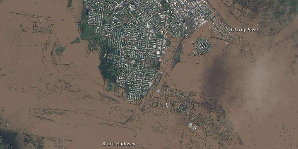 Inundaciones en Australia vistas desde el espacio