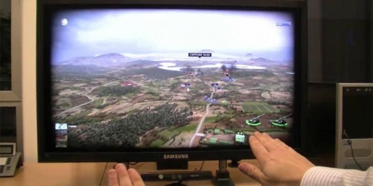 Jugando RUSE de PC con Kinect