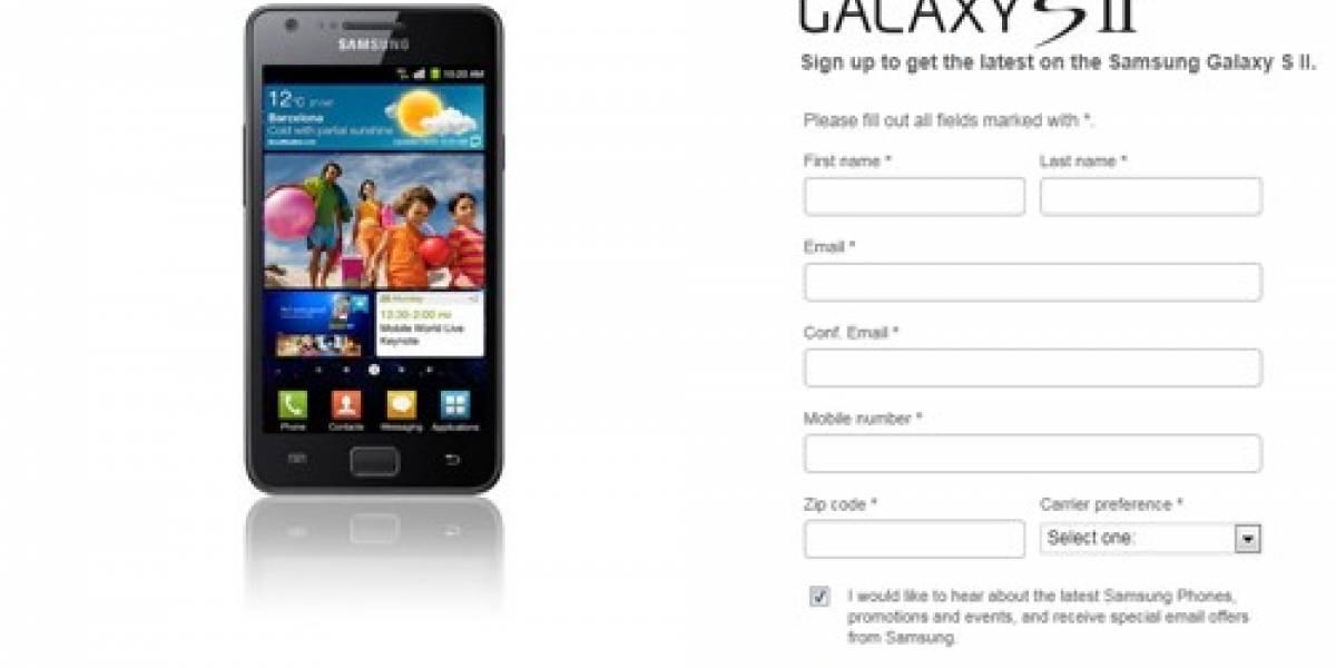 Estados Unidos: Samsung crea sitio para que interesados se preparen para su lanzamiento