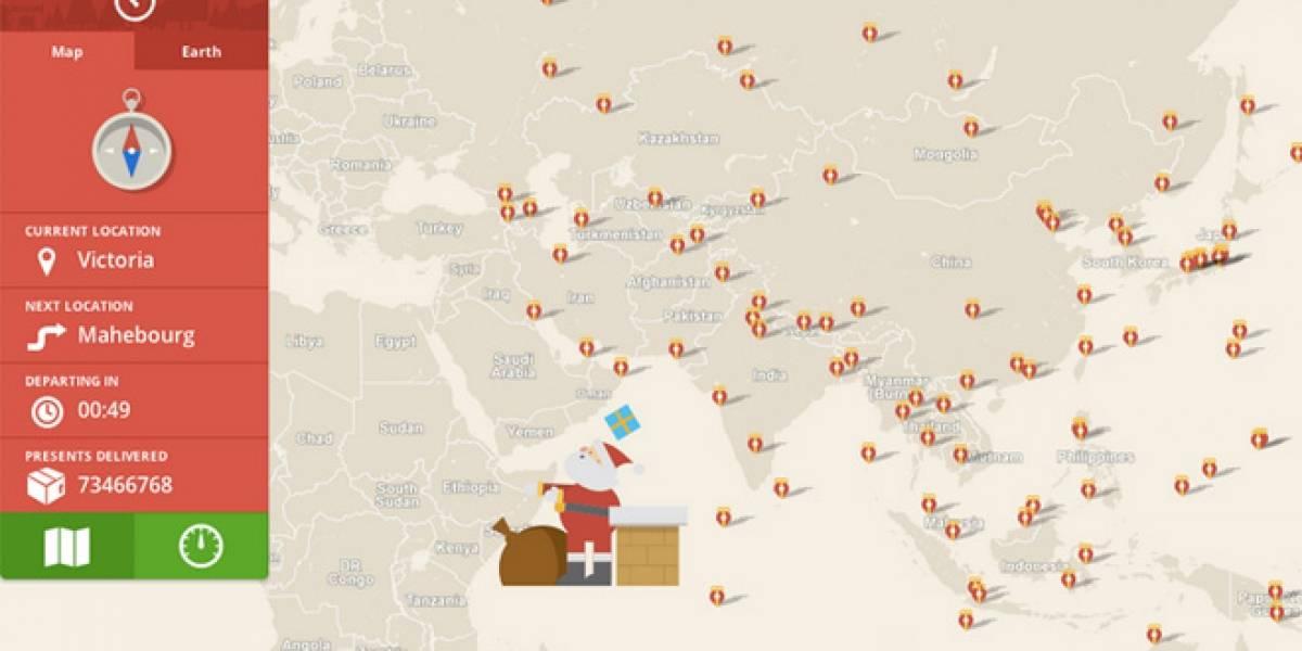 Google seguirá rastreando a Santa Claus pese a su asociación con Bing