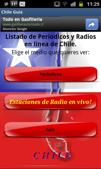 Chile Guía: Radios y periódicos chilenos en tu Android