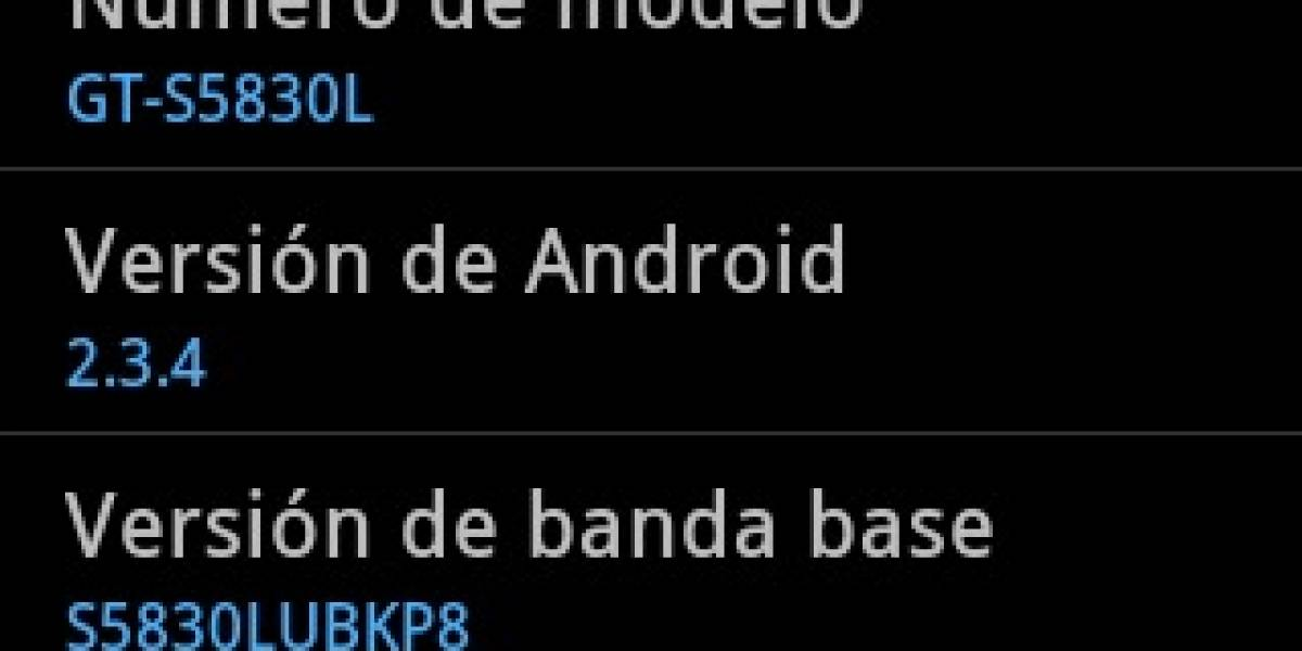 Disponible Android Gingerbread 2.3.4 para Samsung Galaxy Ace de Entel