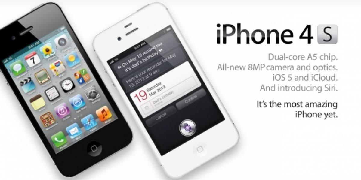 4 millones de unidades del iPhone 4S se vendieron en su primer fin de semana