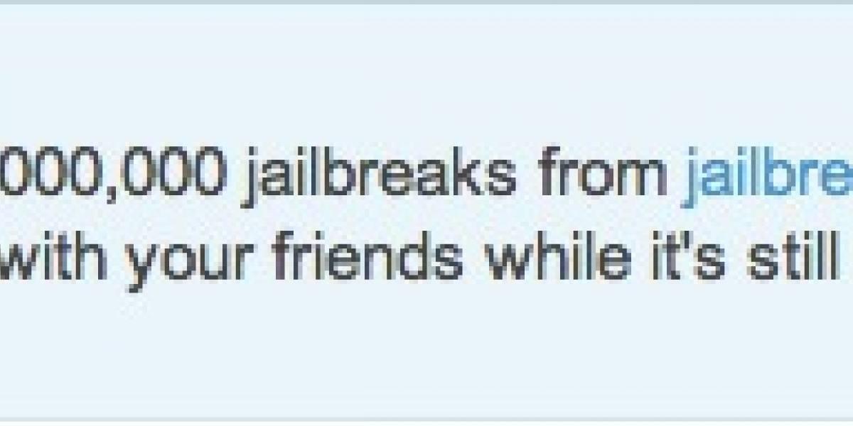 En sólo 1 día más de 1 millón de personas hicieron jailbreak a sus iPhone y iPad, 1 y 2