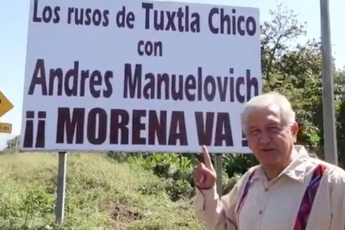 Dan bienvenida a AMLO en Chiapas con mensaje