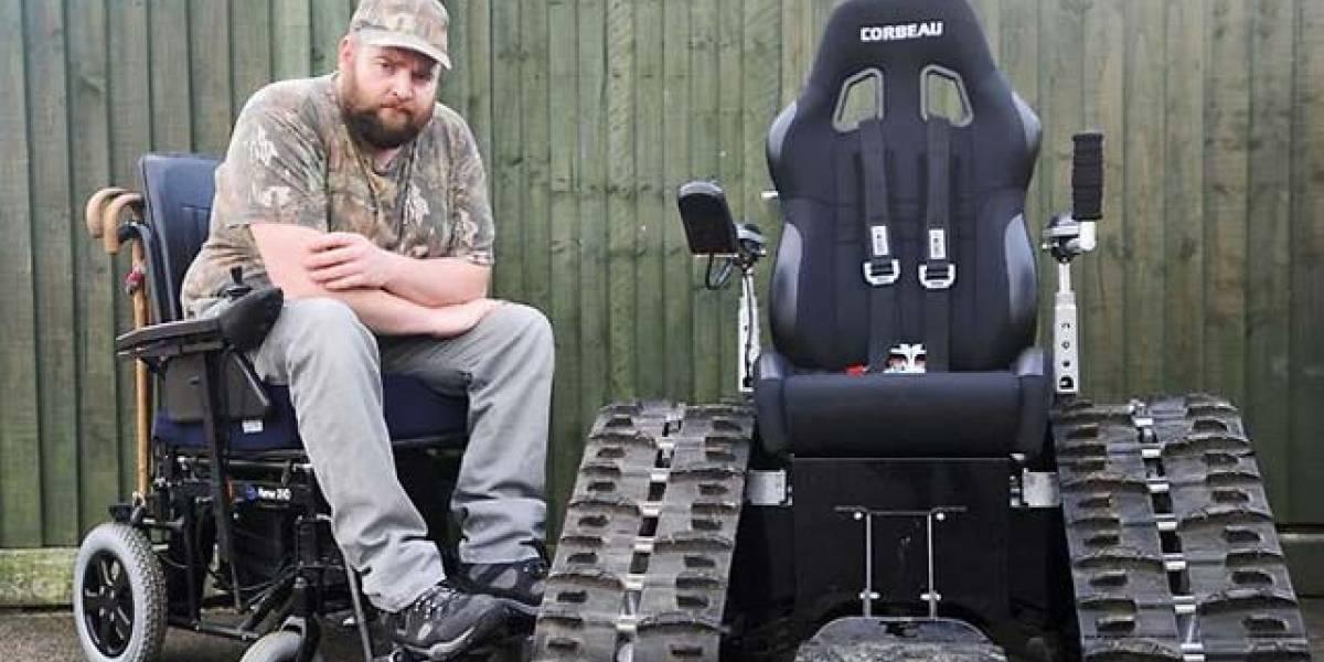 Discapacitado no puede usar su silla todoterreno porque califica como tanque