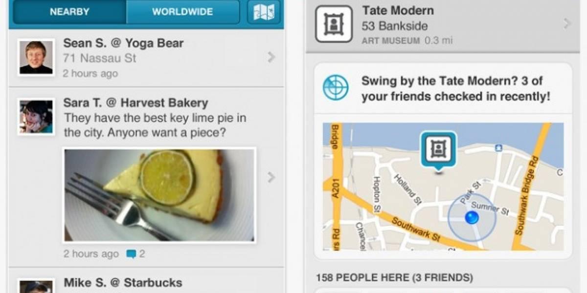 Foursquare actualiza su aplicación a versión 4.0 con recurso llamado Radar