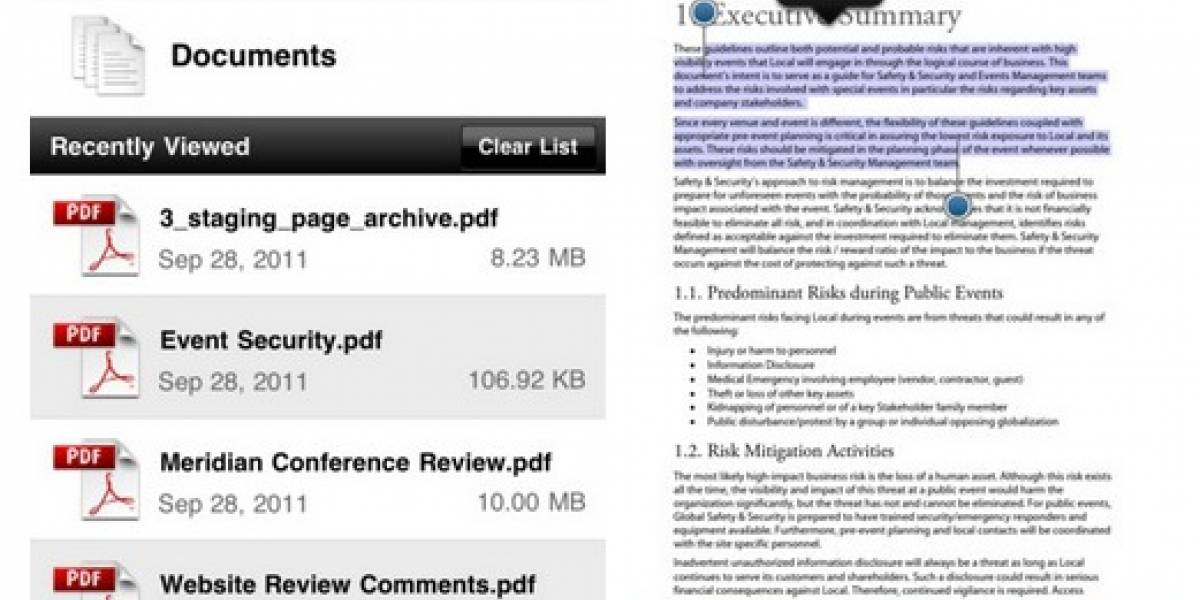 Adobe Reader ya está disponible para iOS