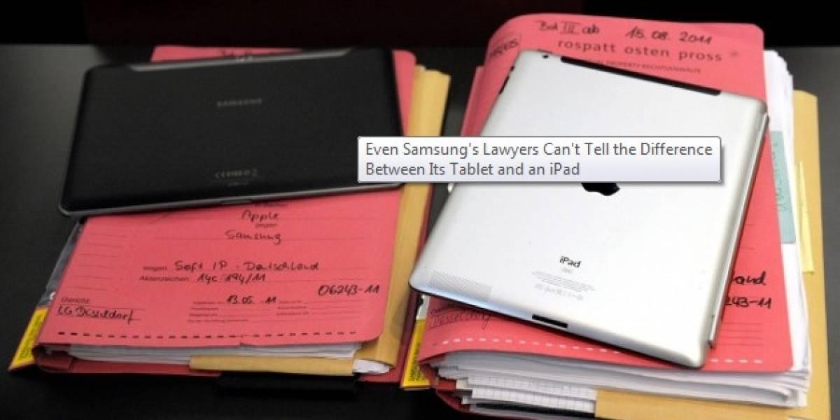 Ni siquiera los abogados de Samsung pueden diferenciar un Galaxy Tab de un iPad