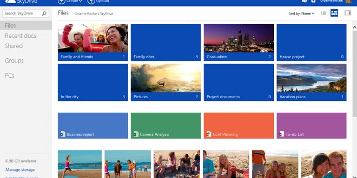 Microsoft remodela el sitio oficial de SkyDrive con estilo Windows 8