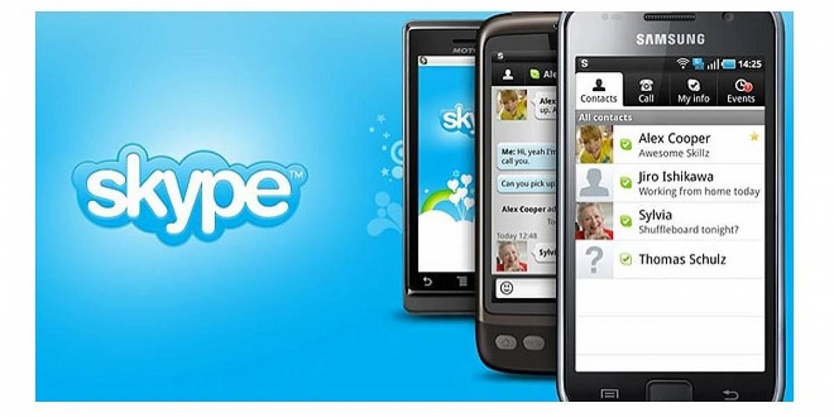 Llega nueva versión 2.5.0 de Skype para Android