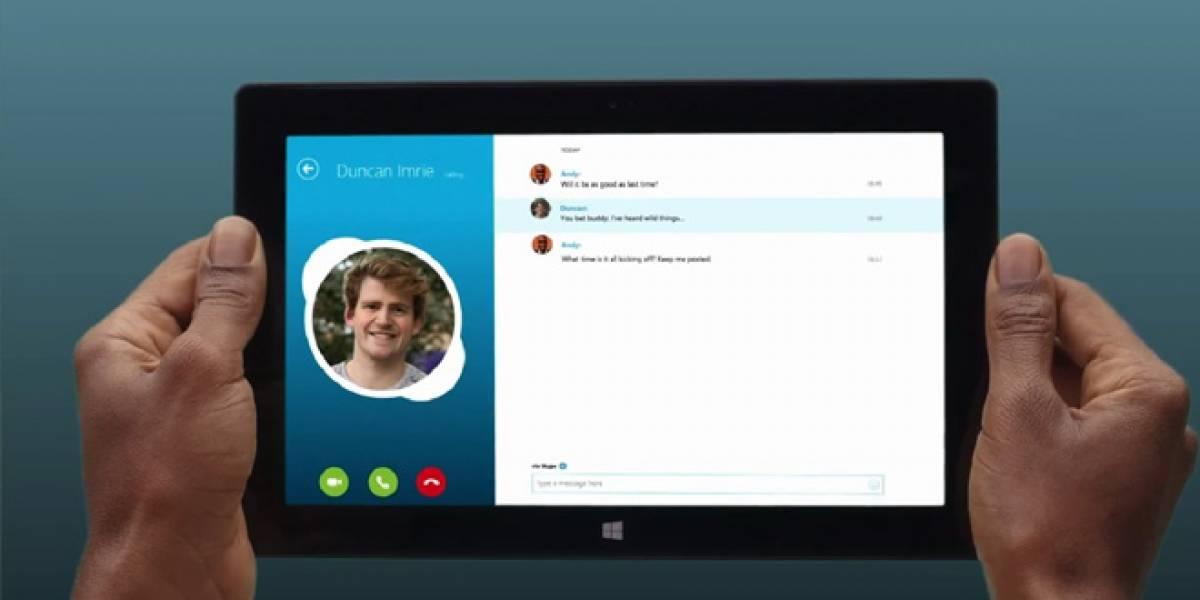 Skype lanzará nueva aplicación junto con Windows 8