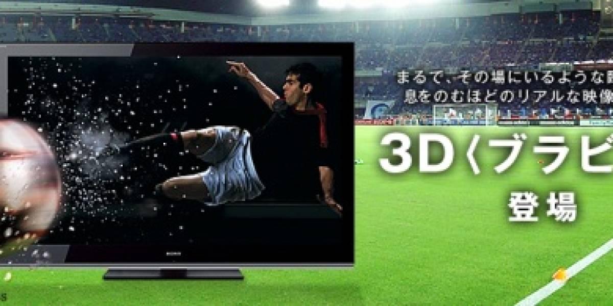 Sony lanzará televisores 3D en junio (un día antes del Mundial)