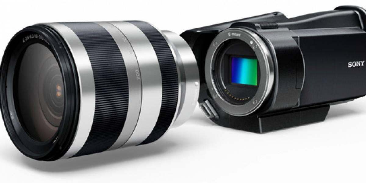 Sony también apuesta por una videocámara de lentes intercambiables