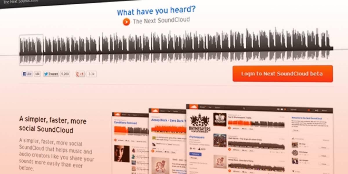 Así se ve el nuevo diseño de SoundCloud