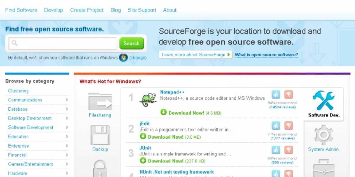 Infraestructura de SourceForge.net comprometida por ataque de hackers