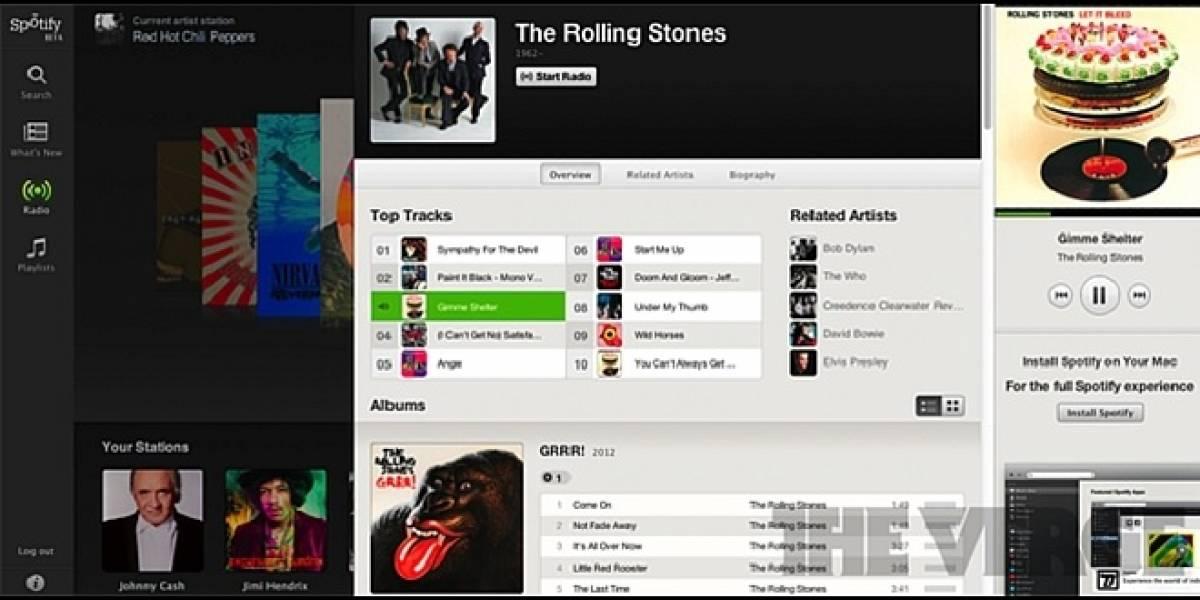Aseguran que hoy comienza el beta del reproductor para navegadores de Spotify