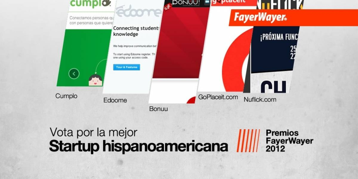 Vota por la mejor Startup Hispanoamericana 2012
