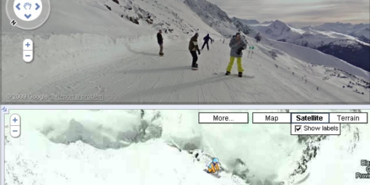 Los Juegos Olímpicos de Invierno desde Google Street View