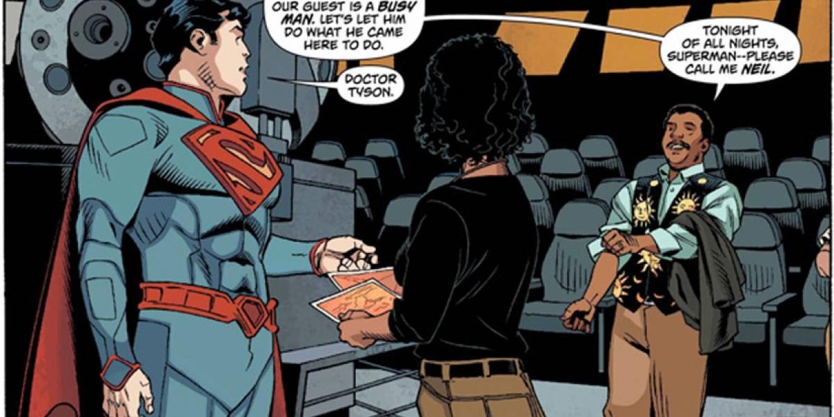 Superman encuentra el planeta Krypton con la ayuda del astrofísico Neil deGrasse Tyson