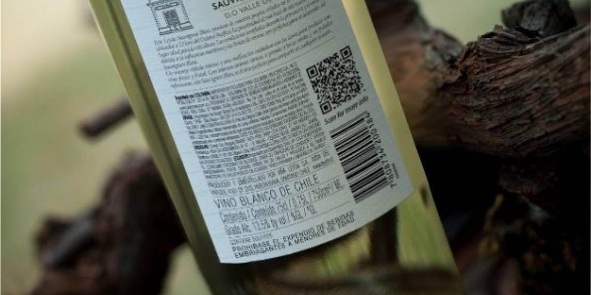 Viña utiliza códigos QR para complementar información de su etiqueta