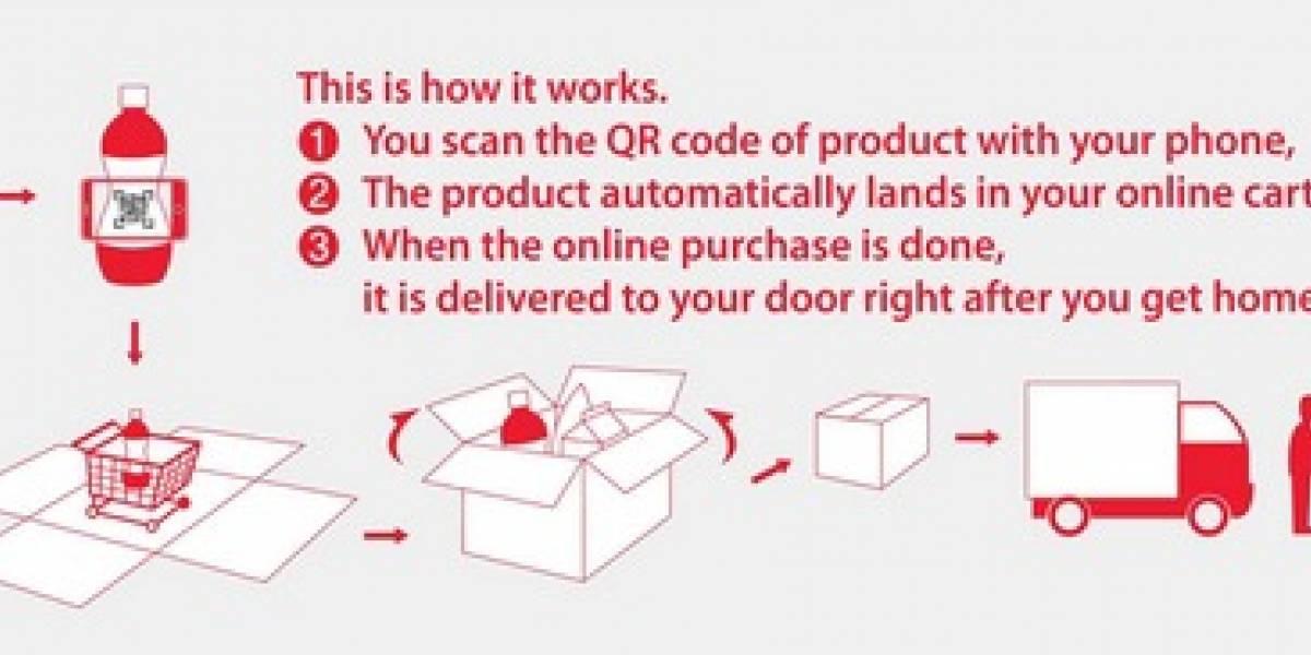La nueva forma de pago móvil: Vitrinas de supermercado con Código QR en el metro