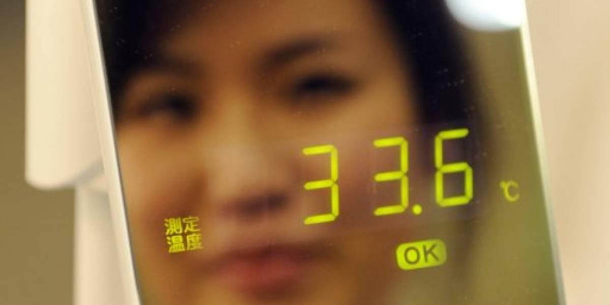 Inventan espejo-termómetro que determina si tienes gripe