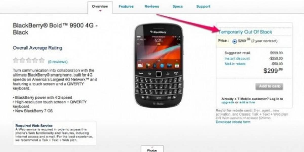 Blackberry Bold 9900 se agota en su primer día a la venta en EEUU