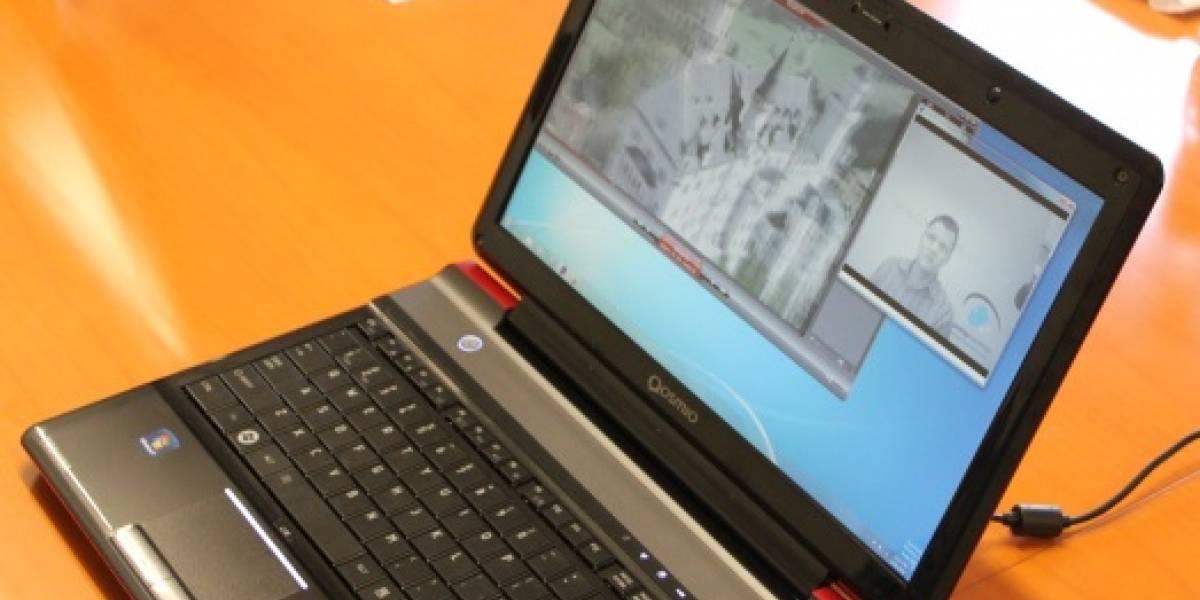 Toshiba muestra laptop 3D que usa una webcam para seguir la vista y eliminar las gafas especiales