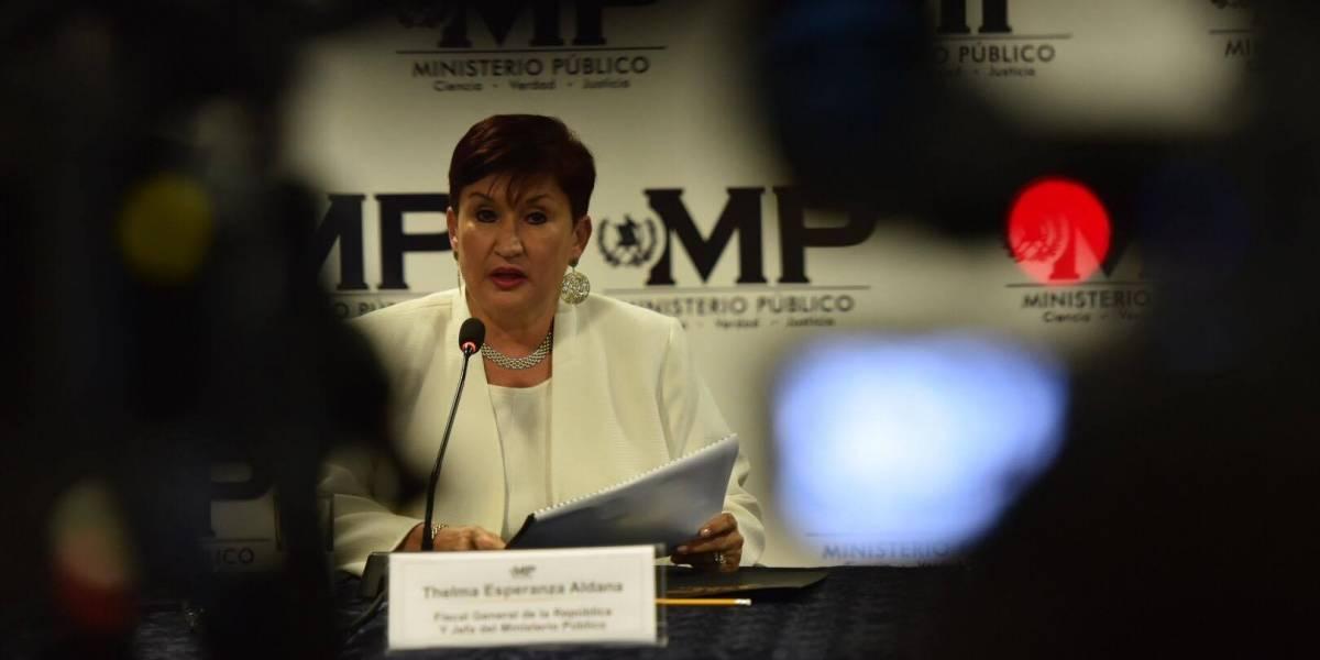 MP denuncia usuarios falsos a nombre de Thelma Aldana