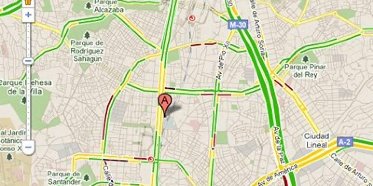 Google Maps ya informa del tráfico en tiempo real en España
