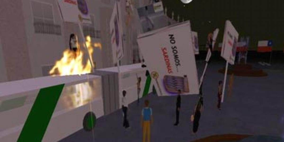 Primera protesta virtual chilena
